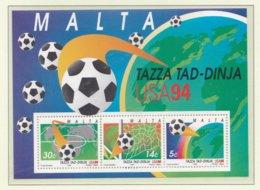 Malta Souvenir Sheet 1994 FIFA World Cup Football In The USA MNH/** (H27) - Fußball-Weltmeisterschaft