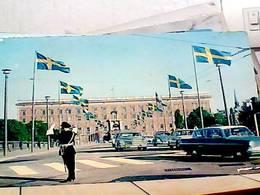 SUEDE SWEDEN Stockholm - KUNGL SLOTTET FRAN  NORRBRO ROYAL PALACE VIGILE  AUTO  CAR   V1964 HA8332 - Svezia