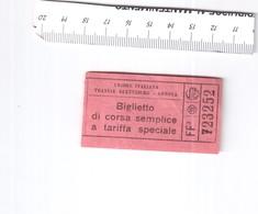TICKET TRAM BIGLIETTO TRAM GENOVA ITALIA 1930-1940 RIF. B.P. - Tram