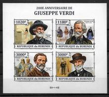 BURUNDI  Feuillet  N° 2142/45  * *  NON DENTELE   Musique  Opera  Theatre  Verdi - Kunst
