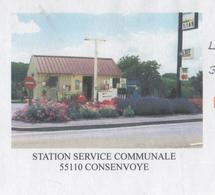 CONSENVOYE MEUSE - STATION SERVICE COMMUNALE - CACHETS RONDS SIVRY SUR MEUSE, FLAMME 2008, PAP ENTIER POSTAL A VOIR - Other (Earth)