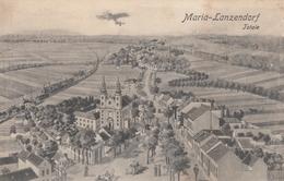 AK - NÖ -Flieger über  MARIA LANZENDORF - Detail-Gesamtansicht Mit Kirche 1922 - Bruck An Der Leitha