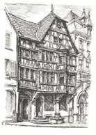 Illustrateur P Sturm SAVERNE  La Maison Katz Construite En 1605 RV - Saverne