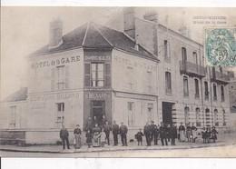 77 COULOMMIERS ,Hotel De La Gare E.MENARD ( Av.de Strasbourg)  Très Animée ,2 Scans Recto Verso - Coulommiers
