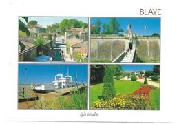 Blaye Une Rue La Citadelle Et La Porte Dauphine Le Bac Parc Fleuri Photos Michel Roumézi - Blaye