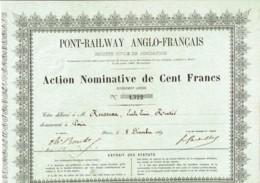 75-PONT-RAILWAY ANGLO-FRANCAIS. Projet D'un Pont Entre La France Et L'Angleterre - Shareholdings