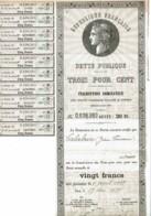 75-REPUBLIQUE FRANCAISE. Dette Publique. 1939 3% Rente 20 F - Actions & Titres