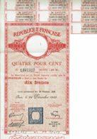 75-REPUBLIQUE FRANCAISE. Dette Publique. 1935 4% Rente 10 F - Shareholdings