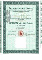 75-ROFFO. Action De 100 F. 1966. Paris Rue Du Chemin Vert. - Hist. Wertpapiere - Nonvaleurs