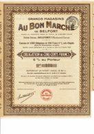 90-GRANDS MAGASINS AU BON MARCHE DE BELFORT. Obligation 1929 - Autres