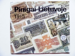 """Issue From Lithuania """"Money In Lithuania"""" 1915-1941"""" Banknotes Coins, Issued In Russian And German Languages 36 Pages - Lithuania"""