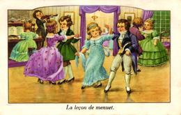 CPA FANTAISIE - LA LECON DE MENUET - Autres