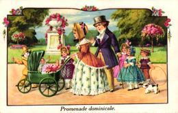 CPA FANTAISIE - PROMENADE DOMINICALE - Autres