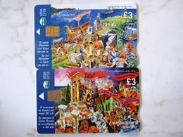 2   CARDS CYPRUS    SANS NUMERO   LOW TIRAGE - Chypre