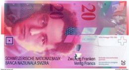 SWITZERLAND 20 FRANCS ND (2004) P-69c UNC SIGN. RAGGENBASS & HILDEBRAND [CH350f3] - Switzerland