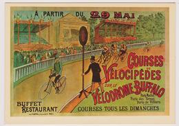 COURSES VELOCIPÈDES SUR LE VELODROME BUFFALO - Ed. F. NUGERON N° B 9 - NOS ELEGANTES BICYCLETTES - Cyclisme