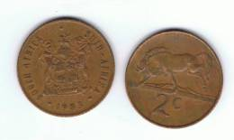 SUD AFRICA -  2 Cents  1983  KM83 - Ñu / Wildebeest - Animal Coin - Sudáfrica