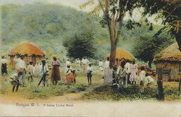 Anitigua W.I. A Native Cricket Match  Edit José Anjo No 217  Stamp Removed Cancel Castries - Antigua & Barbuda