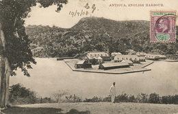 Anitigua  English Harbour  . P. Used Leeward Islands Stamp To Ottolini Benfica Portugal Light Crease - Antigua & Barbuda