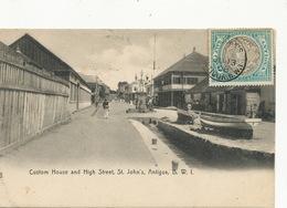 Anitigua  B.W.I. Custom House And High Street St John's . P. Used  To Ottolini Benfica Portugal Lightbourn's - Antigua & Barbuda