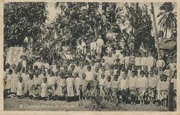 St Kitts W.I. A Country School  Edit Moure Losada  Used To Schaffen Diest Belgium Arrazola De Onate - Saint-Christophe-et-Niévès