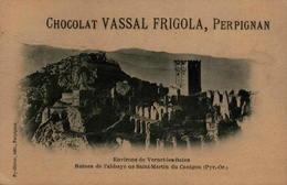 66 - Ruines De L'abbaye De Saint-Martin Du Canigou - Publicité Chocolat Vassal Frigola - France