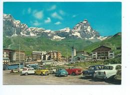 CERVINIA-PANORAMA E MONTE CERVINO-NV-AUTO-CAR-FIAT-MERCEDE - Italia