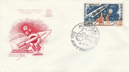 FDC MONACO 636 PHILATEC 22.5.64 - Cartas