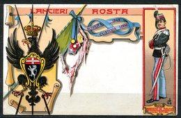 CARTOLINA - CV2546 MILITARI REGGIMENTALI Lancieri Di Aosta, FP, Viaggiata 1911 Da Ferrara A Milano, Ottime Condizioni - Regiments