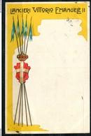 CARTOLINA - CV2553 MILITARI REGGIMENTALI Lancieri Vittorio Emanuele II, Viaggiata 1908 Da Vicenza A Firenze, Ottime Cond - Reggimenti