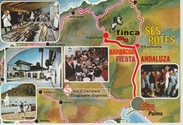 """19 / 3 / 112. -    FIESTA  ANDALUZIA   - CORTIJO.  """""""" SES  ROTES  """"   C. P. M. - Espagne"""