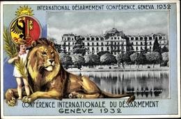 Passepartout Cp Genève Genf Stadt, Conférence Int. Du Désarmement 1932 - GE Genève