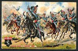 CARTOLINA - CV2562 MILITARI REGGIMENTALI 6° Reggimento Lancieri Aosta, Viaggiata 1911 Da Ferrara A Milano, Ottime Condiz - Reggimenti