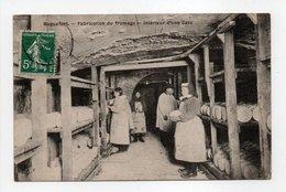 - CPA ROQUEFORT (12) - Fabrication Du Fromage - Intéreur D'une Cave 1908 - Edition A. P. - - Roquefort