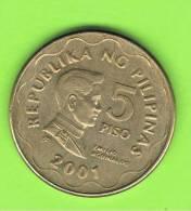 FILIPINAS - PHILIPPINES -  5 Piso  2001   KM272 - Filipinas