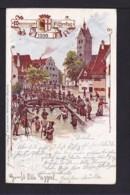 """5 Pf. Privat Ganzsache """"Fischertag Memmingen"""" - Gebraucht 1900 - Poissons"""