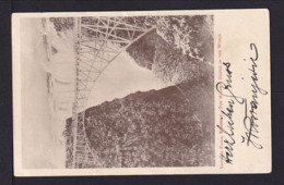 "1907 - 1 P. Bild Ganzsache ""Eisenbahnbrücke - Victoria Falls"" - Gebraucht Ab Victoria Falls - Nyassaland (1907-1953)"