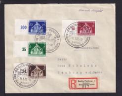 1937 - Sonderstempel Und R-Zettel Berlin Kolonial Briefmarken-Schau - Einschreibbrief Nach Neuburg - Deutschland