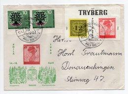 - Lettre TRYBERG Pour Donaueschingen (Allemagne) 18.4.1960 - A ETUDIER - - Storia Postale