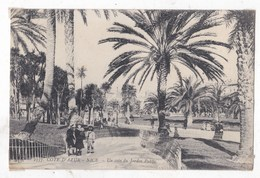Carte Postale   Nice Un Coin Du Jardin Animée - Parchi E Giardini
