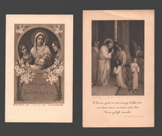 2 X Communieprentje 1928 - Image Pieuse / Religious Picture - Communion