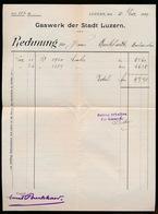 1899 31 DEZ - GASWERK DER STADT LUZERN - Suisse