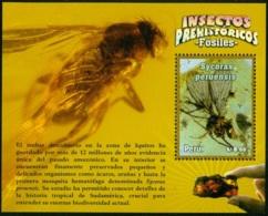 PERU 2014 FOSSILIZED INSECT S/S** (MNH) - Peru