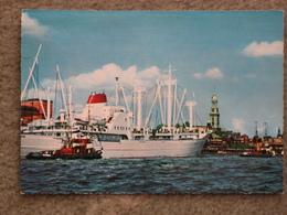 HAMBURG HARBOUR - COLOUR VIEW - Cargos