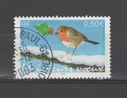 FRANCE / 2003 / Y&T N° 3621 : Rouge-gorge (de Feuille) - Oblitéré 2003 12. SUPERBE ! - Gebruikt