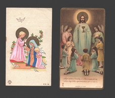 9 X Communieprentje 1933 - 1939 - Image Pieuse / Religious Picture - Communion