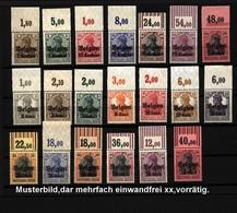 Belgien,Nr-1-7 + 10-22,xx,mit Oberrand,Michel Ca 180,- - Deutschland