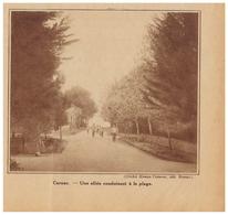 1932 - Iconographie - Carnac (Morbihan) - Une Allée Pour La Plage - FRANCO DE PORT - Vieux Papiers