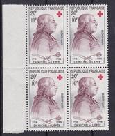 FRANCE 1959  AU PROFIT DE LA CROIX ROUGE N° 1226 ** BLOC DE 4 BDF - France