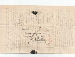 Lettre Complète Du 8 Novembre 1839 Au Départ De LUXEMBOURG , Signée De Vauthiez.+ Cachet Rouge Linéaire  ???? - Luxembourg